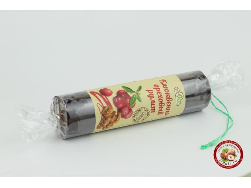 Клюквенно - ореховый рулет